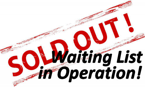 2018 Event Full – Waiting List in Operation